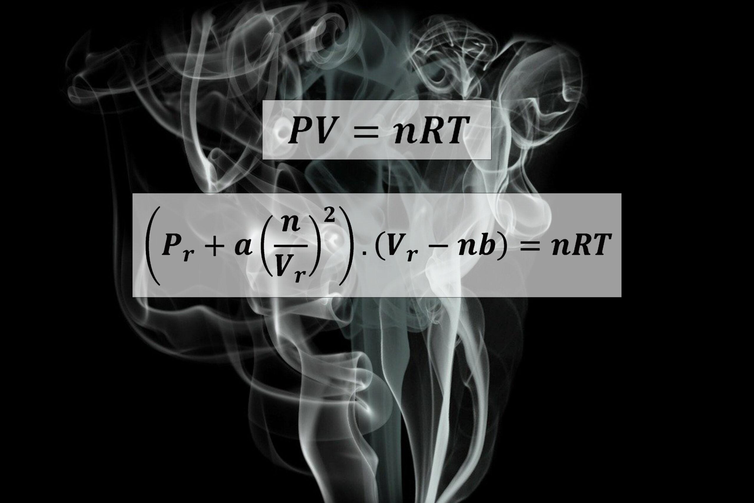 لماذا معادلة الغازات الحقيقية مختلفة عن معادلة الغازات الكاملة ؟